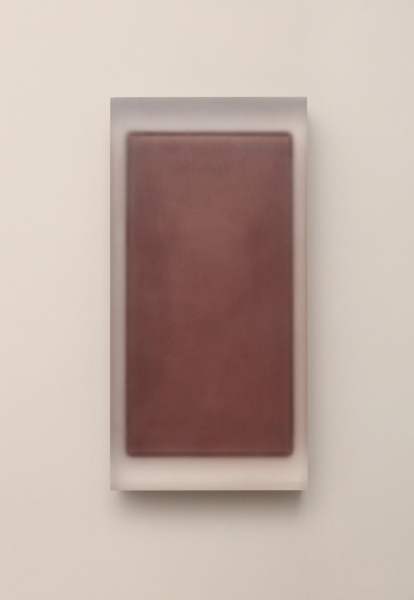 Block (Brown) / acrylic / 15 x 6 x 29(h) cm
