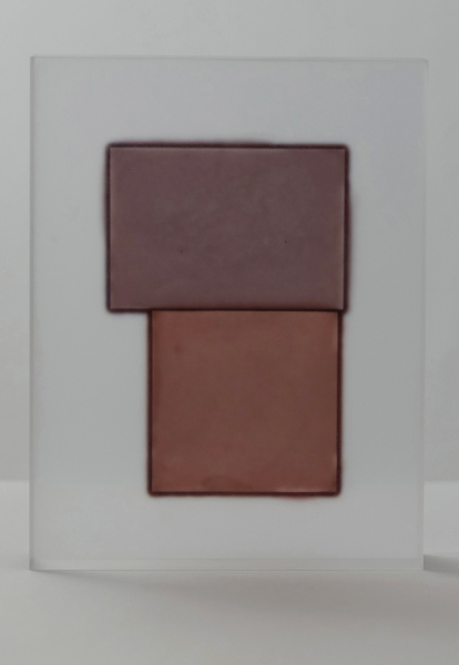 Block (Brown on Earthy Brown), 2020 / acrylic / 17 x 4 x 22(h) cm